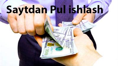 Saytdan Pul ishlash