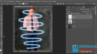 Photoshop darslari: Yorqin chiziq effekti